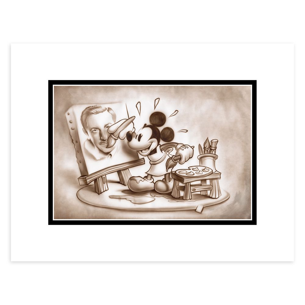 Mickey Mouse ''A Stroke of Genius'' Deluxe Print by Noah