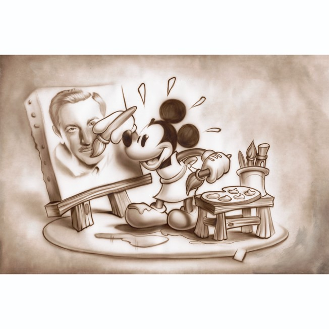 Mickey Mouse ''A Stroke of Genius'' Giclée by Noah