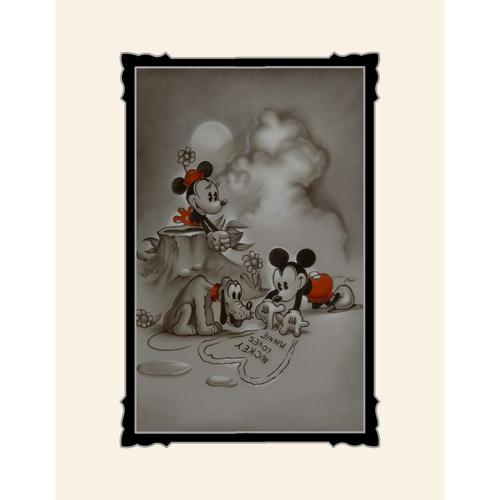 Mickey and Minnie Mouse ''Mickey Loves Minnie'' Deluxe Print by Noah