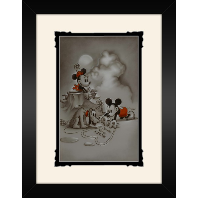 Mickey and Minnie Mouse ''Mickey Loves Minnie'' Framed Deluxe Print by Noah