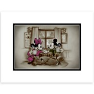 Mickey and Minnie Mouse ''Home is Where Life Makes Up Its Mind'' Deluxe Print by Noah