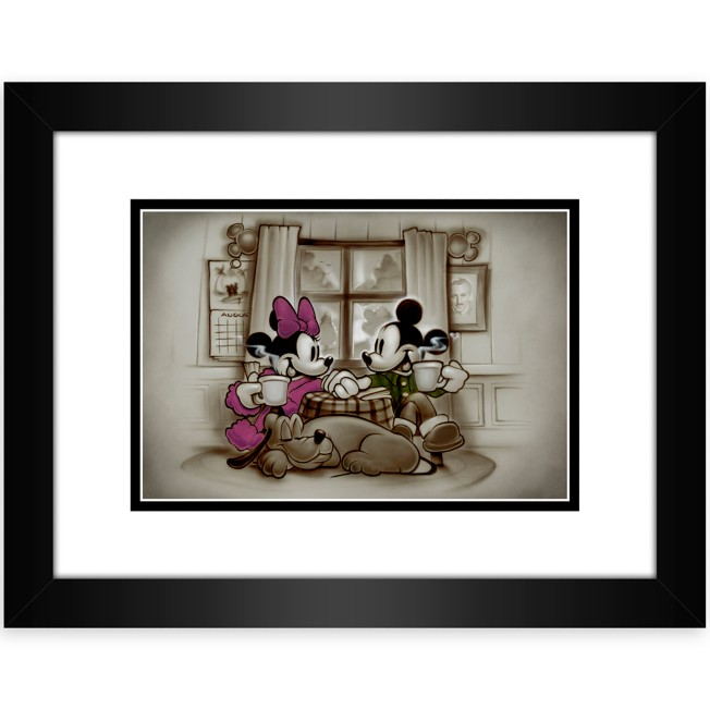 Mickey and Minnie Mouse ''Home is Where Life Makes Up Its Mind'' Framed Deluxe Print by Noah
