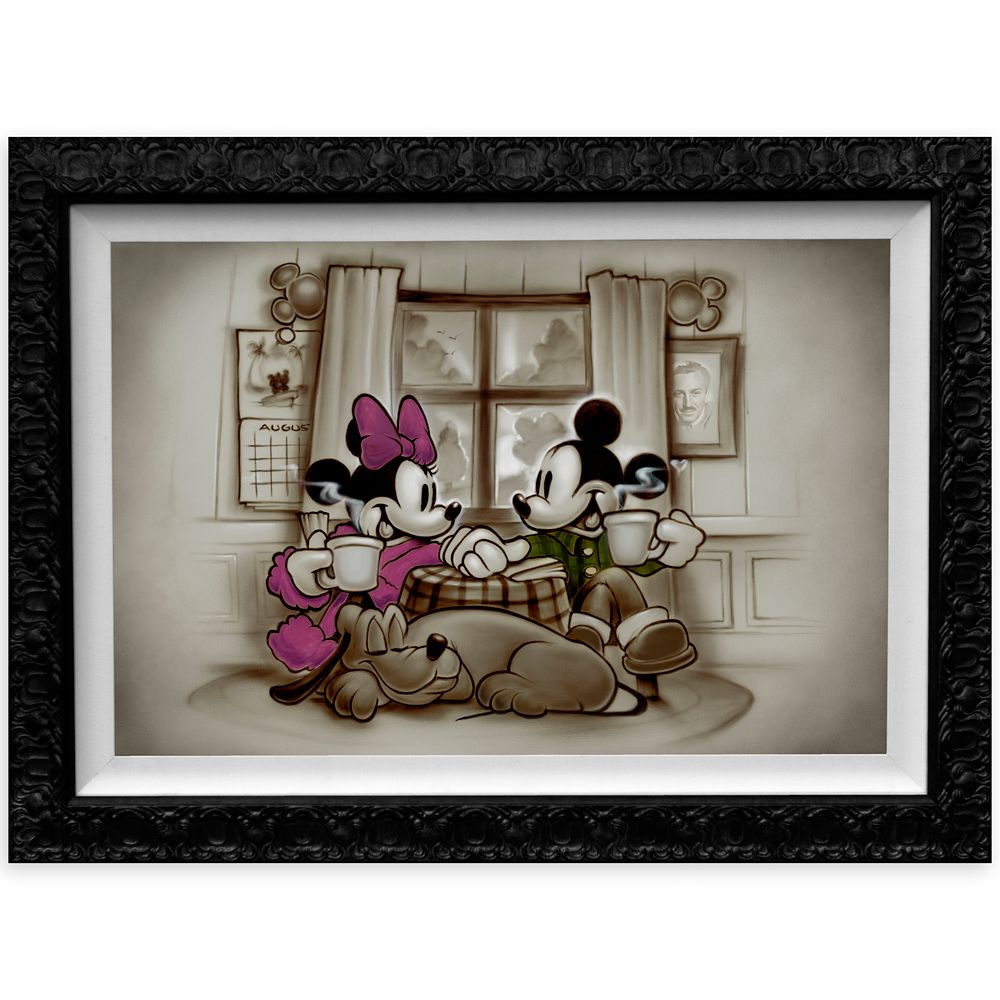 Mickey and Minnie Mouse ''Home is Where Life Makes Up Its Mind'' Special Limited Edition Giclée by Noah