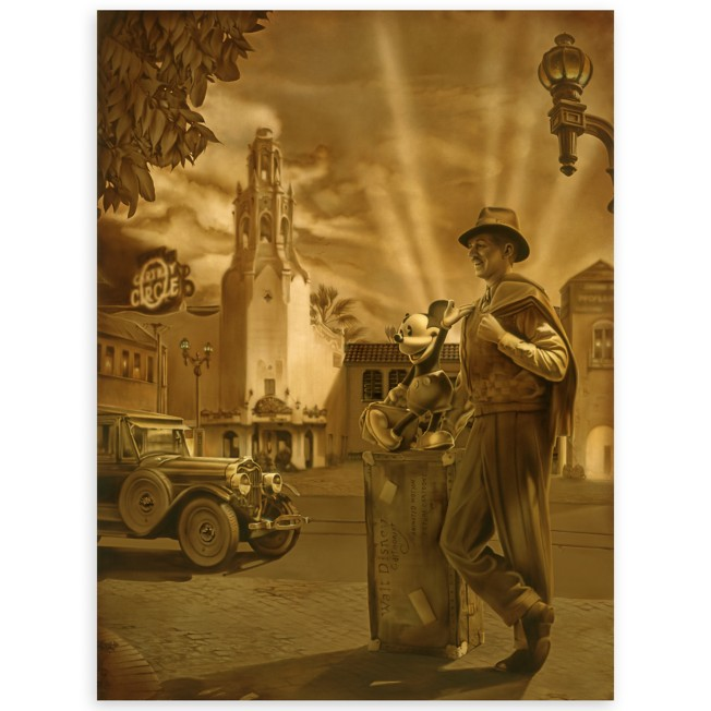 Mickey Mouse and Walt Disney ''StoryTellers'' Limited Edition Giclée by Noah