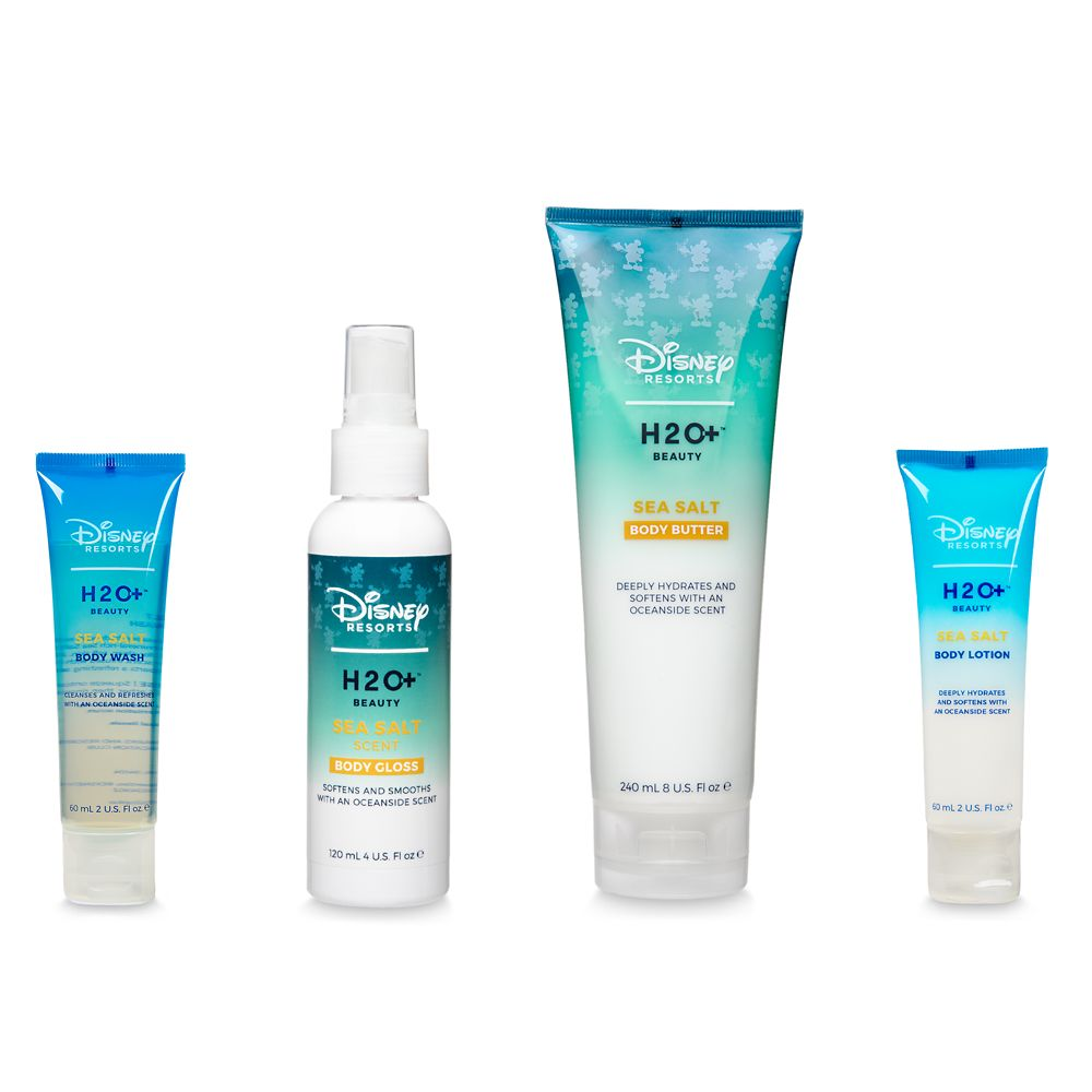 Sea Salt Body Butter, Body Gloss, Body Wash, and Body Lotion Set by H2O+