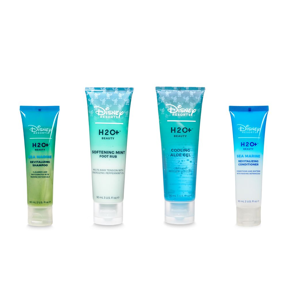 Sea Marine Shampoo and Conditioner, Mint Foot Rub, and Aloe Gel Set by H2O+