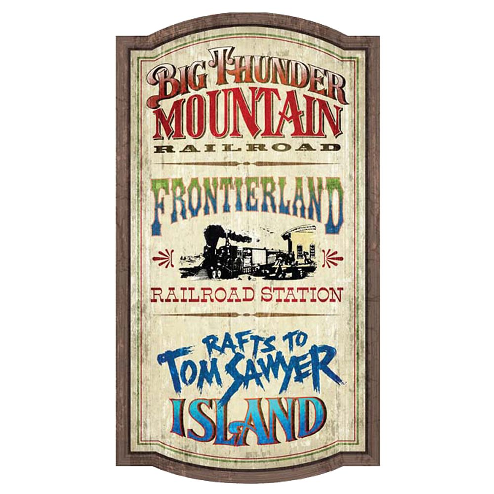 Frontierland Attractions Wall Sign – Walt Disney World