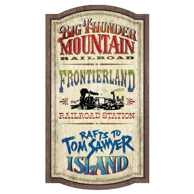 Frontierland Attractions Wall Sign – Walt Disney World