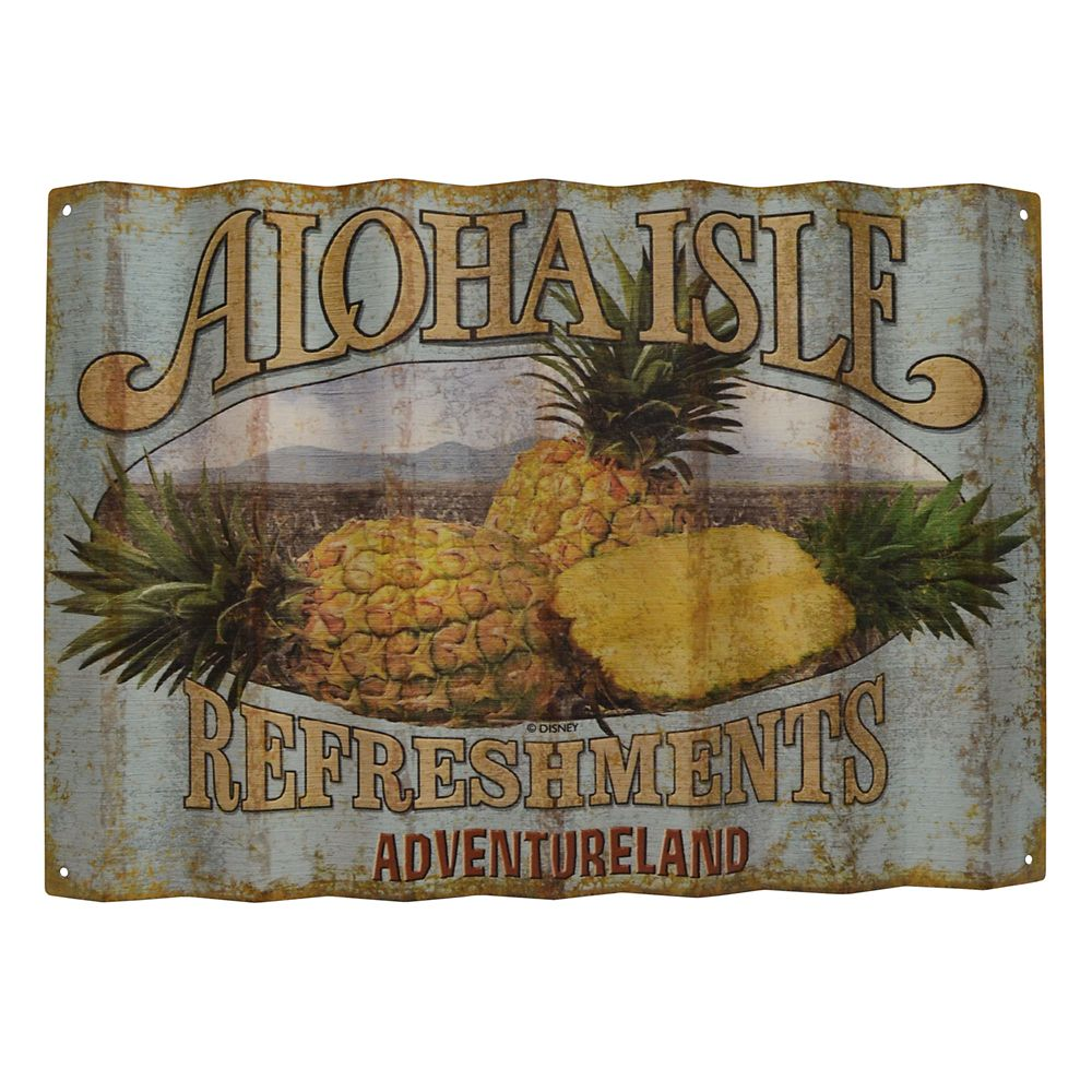 Aloha Isle Refreshments Wall Sign  Walt Disney World
