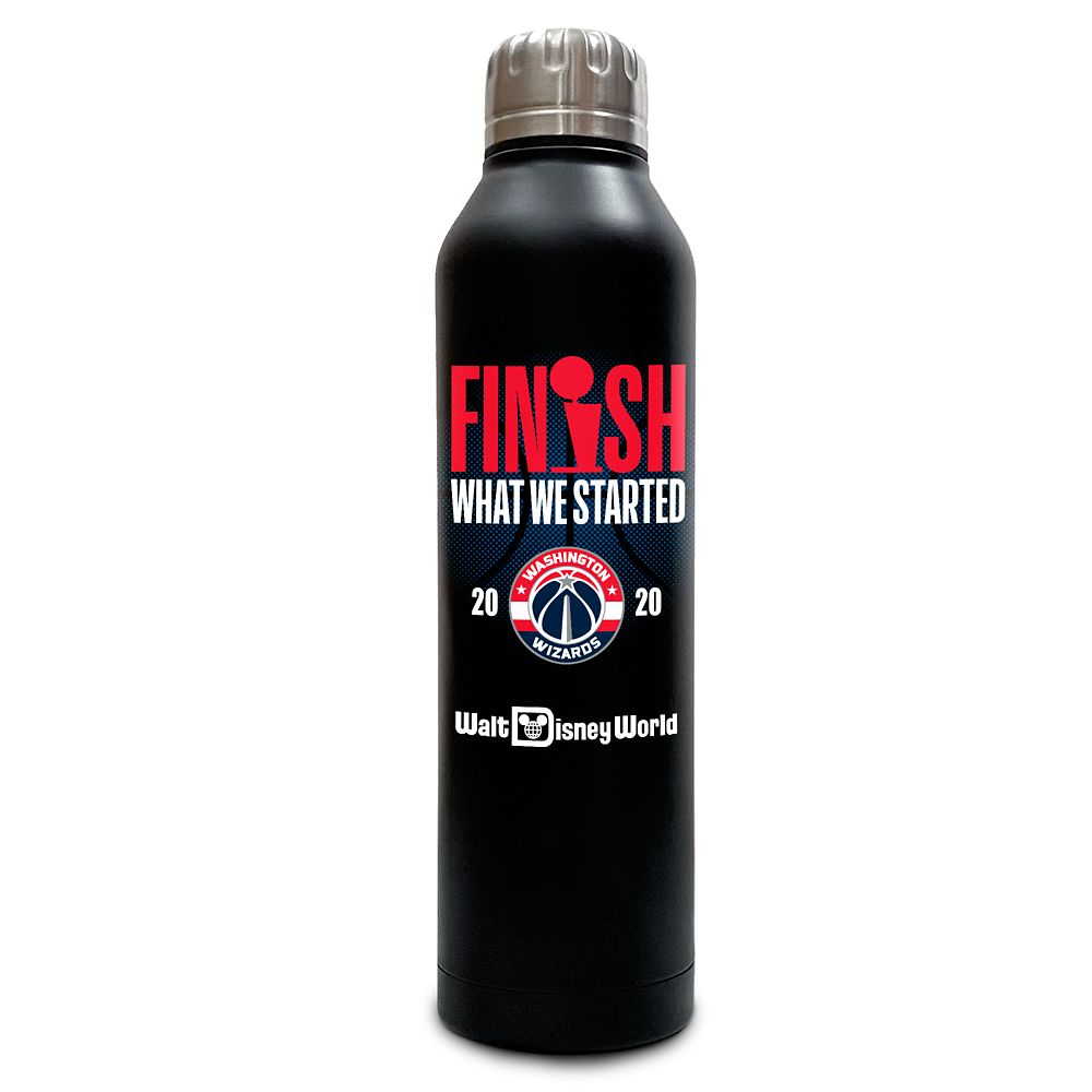 Washington Wizards ''Finish What We Started'' Stainless Steel Water Bottle – NBA Experience