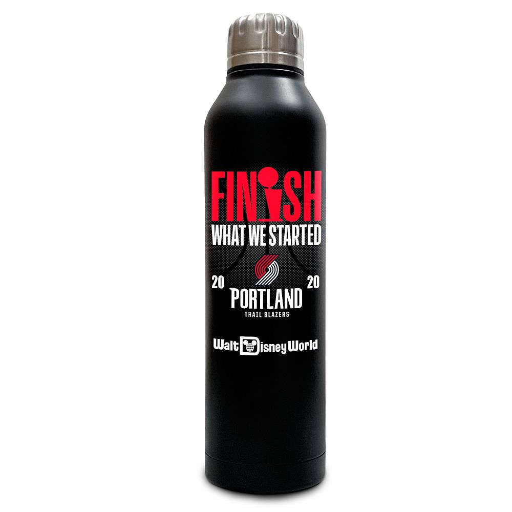 Portland Trail Blazers ''Finish What We Started'' Stainless Steel Water Bottle – NBA Experience