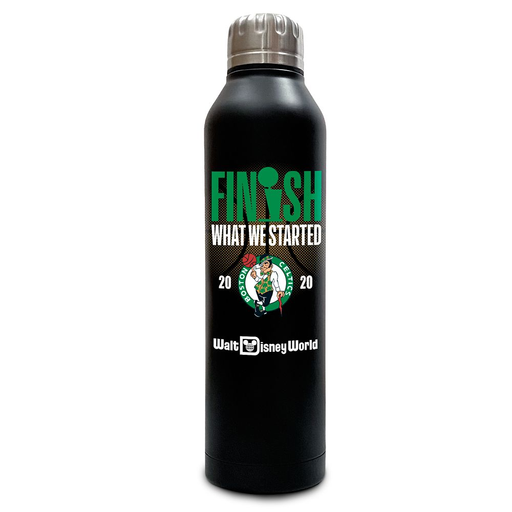 Boston Celtics ''Finish What We Started'' Stainless Steel Water Bottle – NBA Experience