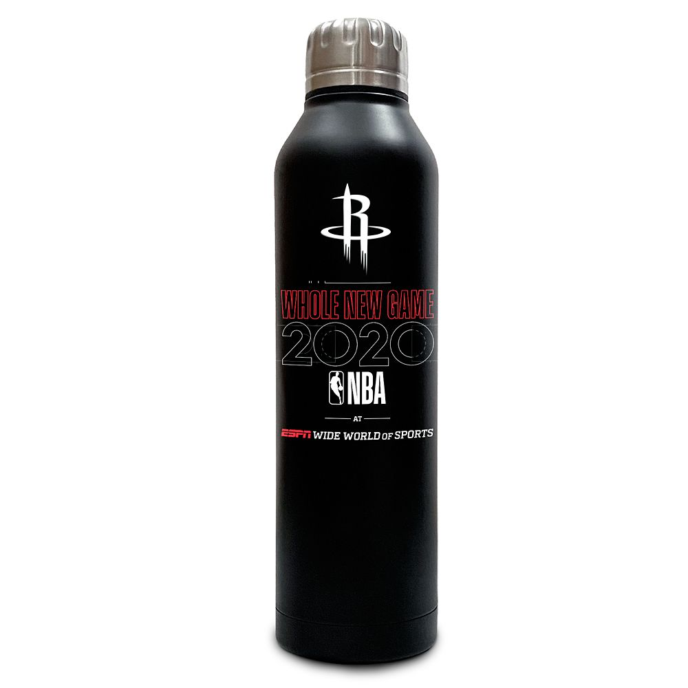 Houston Rockets ''Whole New Game'' Stainless Steel Water Bottle – NBA Experience