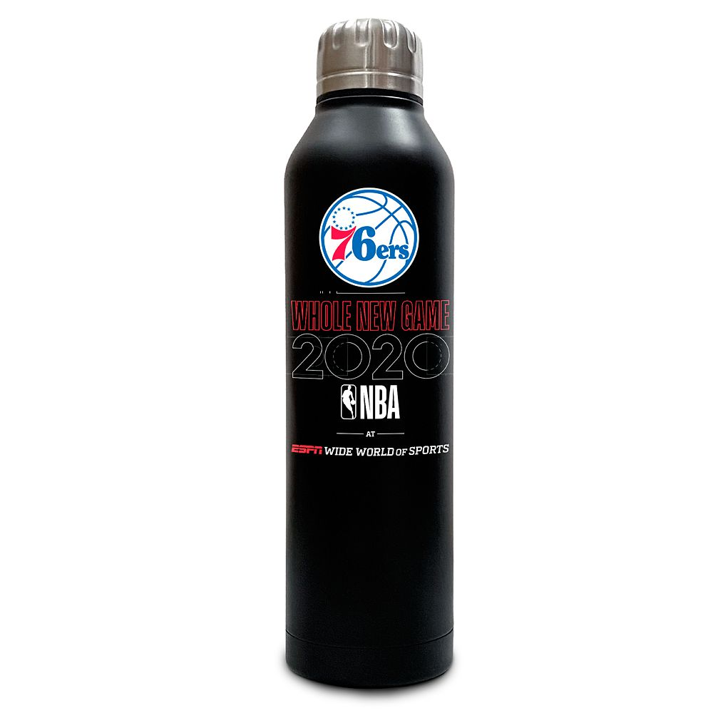 Philadelphia 76ers ''Whole New Game'' Stainless Steel Water Bottle – NBA Experience