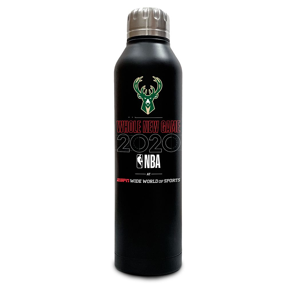 Milwaukee Bucks ''Whole New Game'' Stainless Steel Water Bottle – NBA Experience