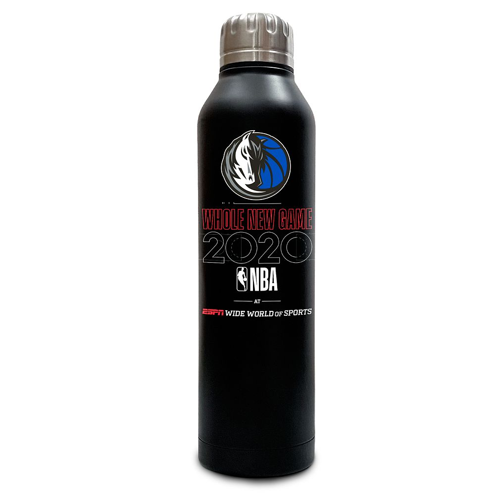 Dallas Mavericks ''Whole New Game'' Stainless Steel Water Bottle – NBA Experience