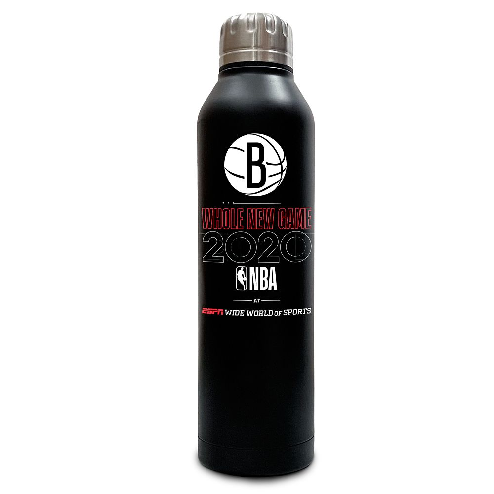 Brooklyn Nets ''Whole New Game'' Stainless Steel Water Bottle – NBA Experience
