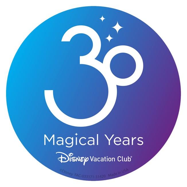 Disney Vacation Club 30th Anniversary Car Magnet