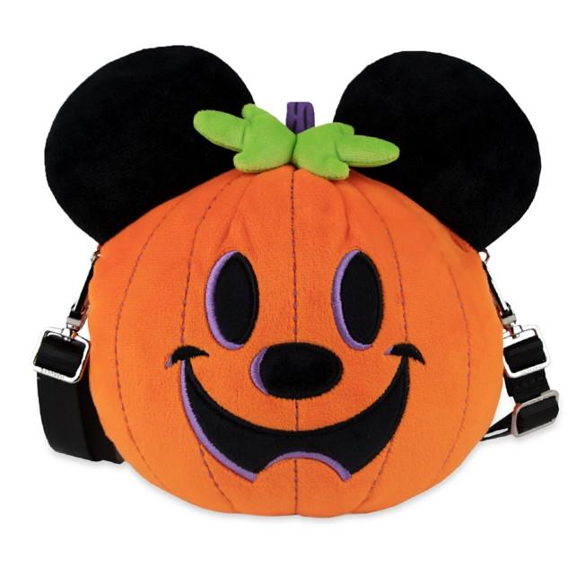 Mickey Mouse Jack-o'-Lantern Plush Crossbody Bag by Harveys
