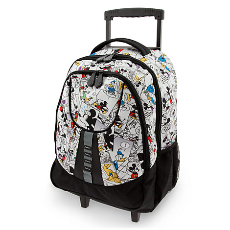 Mickey Mouse Comic Strip Rolling Backpack