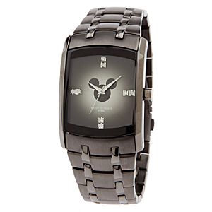 Mickey Mouse Brushed Metal Watch for Men