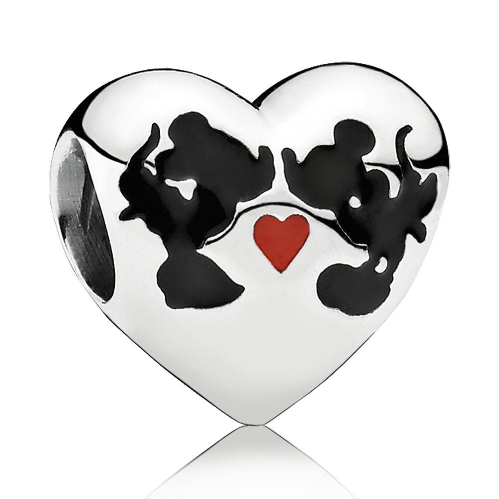 Mickey and Minnie Mouse ''Minnie & Mickey Kiss'' Charm by Pandora Jewelry