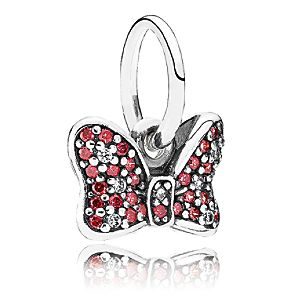 Minnie Mouse Sparkling Bow Charm by PANDORA