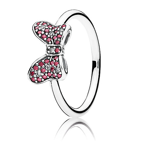 Minnie mouse sparkling bow ring by pandora disney store