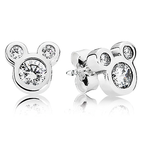 Mickey Mouse Dazzling Earrings by PANDORA