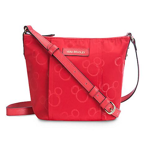 Mickey Mouse Preppy Poly Crossbody Bag by Vera Bradley - Red