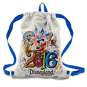 Sorcerer Mickey Mouse and Friends Cinch Sack Tote - Disneyland 2016