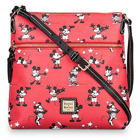 Mickey and Minnie Mouse Retro Large Crossbody Bag by Dooney & Bourke - Red