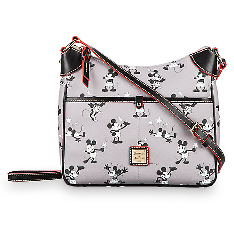 Mickey and Minnie Mouse Retro Crossbody Bag by Dooney & Bourke - Gray