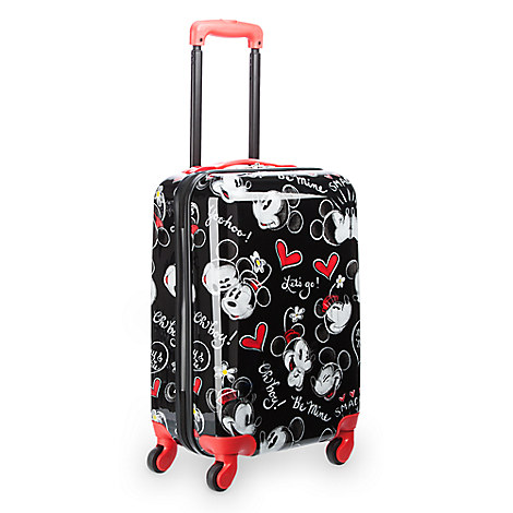 Mickey and Minnie Mouse Rolling Luggage - 21''