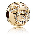 Mickey Mouse Gold Swirl Charm by PANDORA