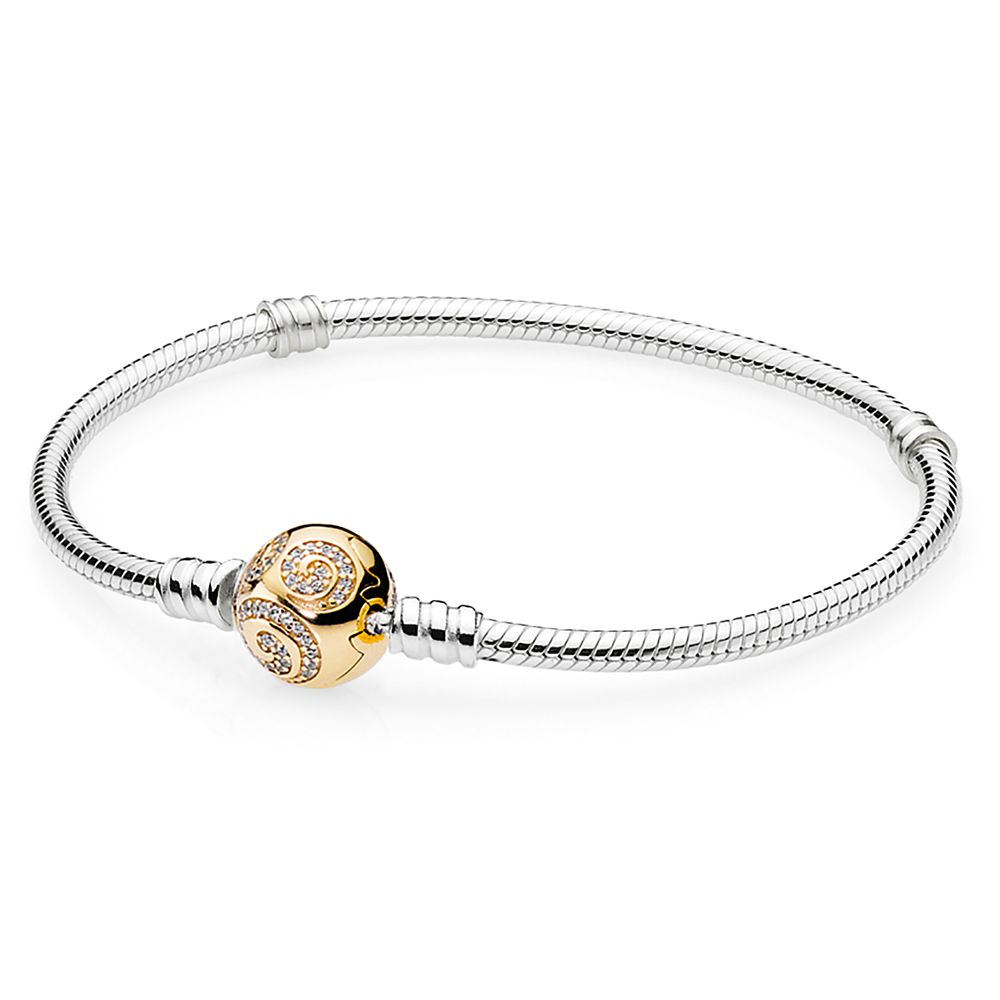 디즈니 판도라 팔찌 - 미키 마우스 Disney Mickey Mouse Golden Swirl Bracelet by Pandora Jewelry