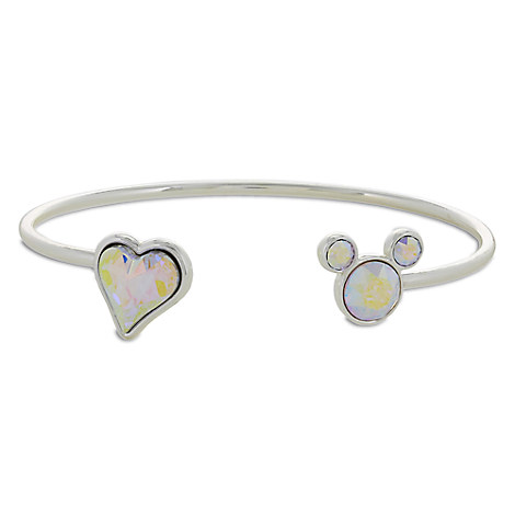 Mickey Mouse Icon Heart Cuff Bracelet - Opalescent