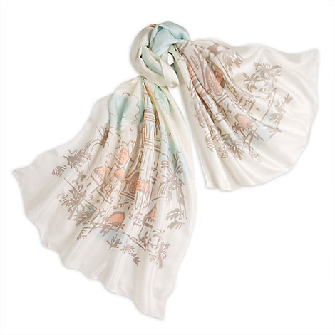 Fantasyland Castle Silk Scarf - Kingdom Couture Collection