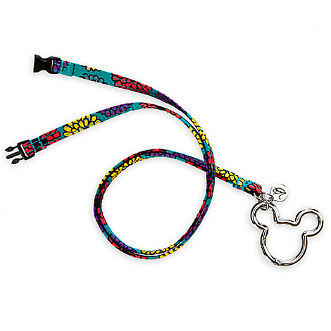 Mickey's Magical Blooms Lanyard by Vera Bradley
