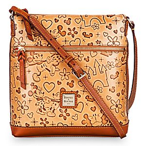 Mickey and Minnie Mouse Lovebirds Letter Carrier Bag by Dooney & Bourke