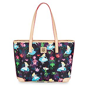 Alice in Wonderland Leather Charleston Shopper Tote by Dooney & Bourke
