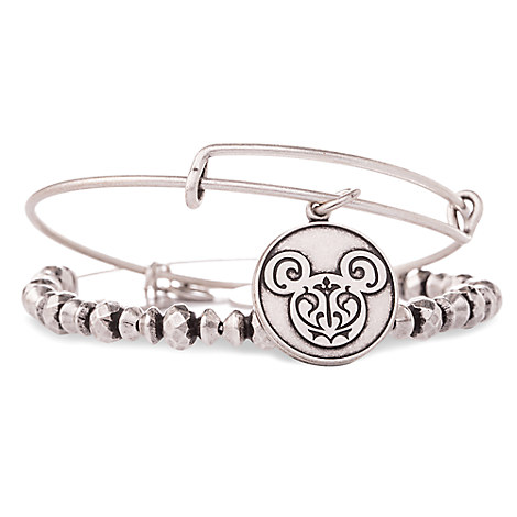 Mickey Mouse Filigree Bangle Set by Alex and Ani - Silver