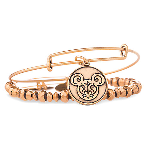 Mickey Mouse Filigree Bangle Set by Alex and Ani - Gold