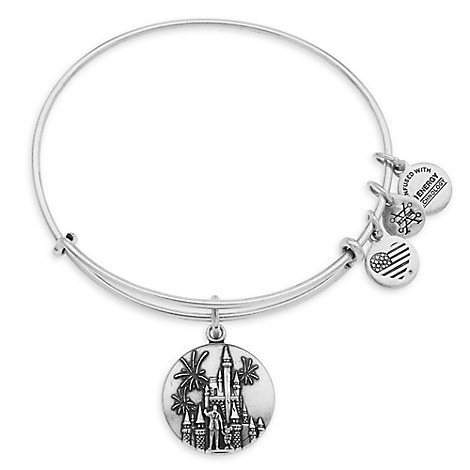 Cinderella Castle with Walt Disney and Mickey Mouse Bangle by Alex and Ani - Walt Disney World - Silver