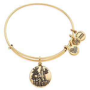 Cinderella Castle with Walt Disney and Mickey Mouse Bangle by Alex and Ani - Walt Disney World - Gold