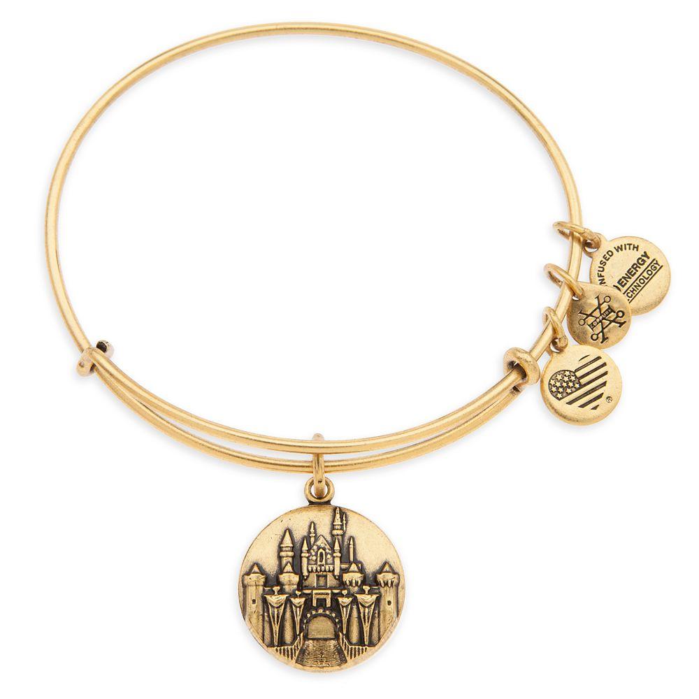 Sleeping Beauty Castle Bangle by Alex and Ani – Disneyland – Gold