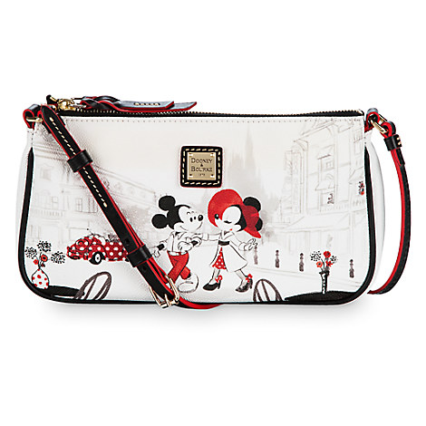 Mickey and Minnie Mouse Cafe Leather Pouchette by Dooney & Bourke