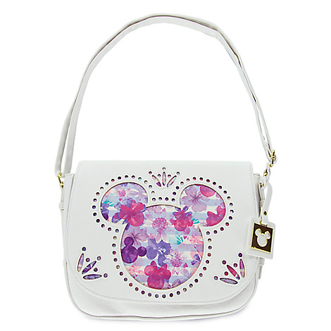 Mickey and Minnie Mouse Icons Floral Crossbody Bag - Disney Boutique
