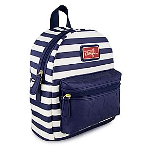 Disneystore Minnie Mouse Nautical Backpack  -  Disney Boutique