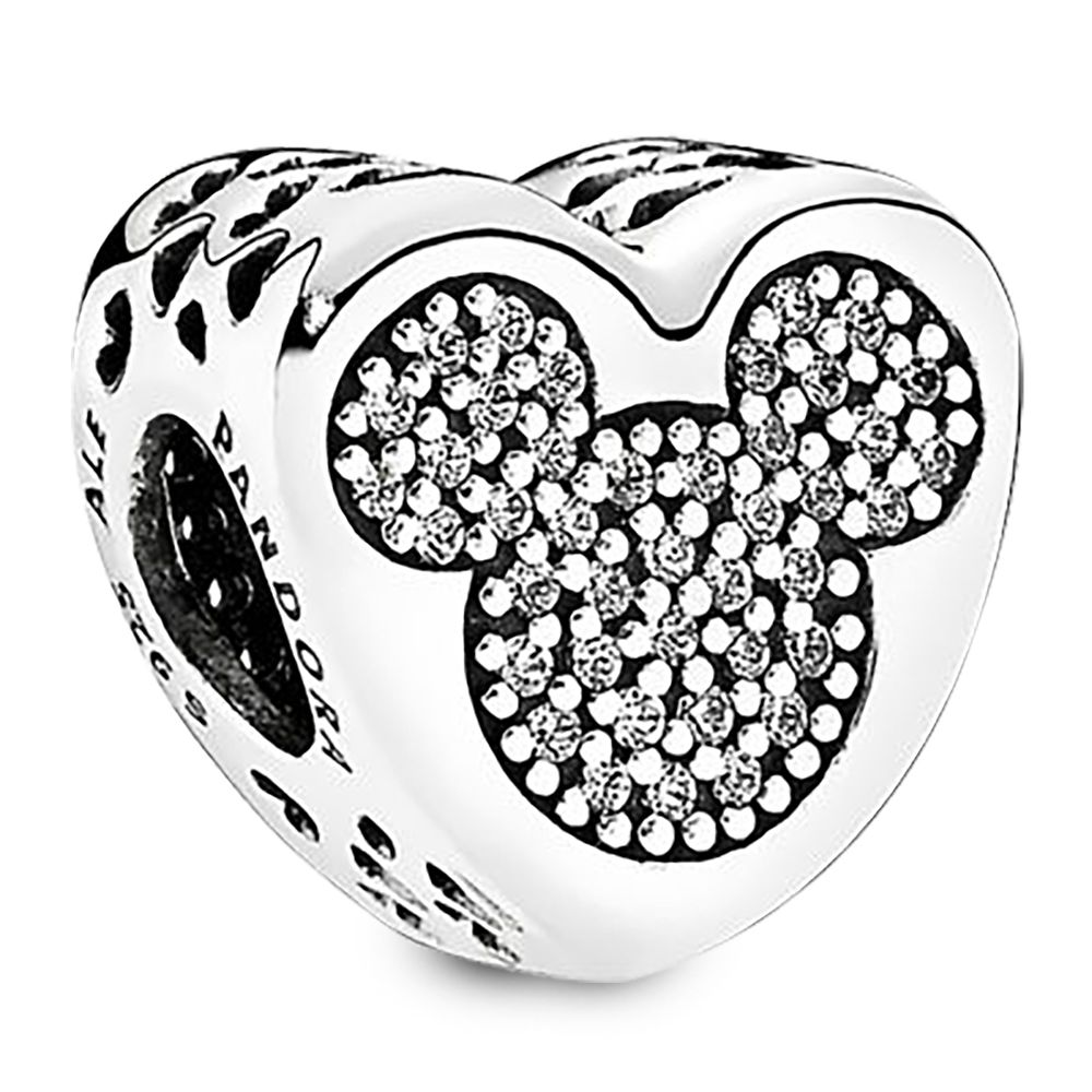 Mickey and Minnie Mouse Icon Heart Charm by Pandora Jewelry